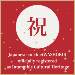 "GURUNAVI supports activities of ""Washoku JAPAN"" project."