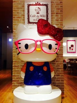 Cafe de Miki with Hello Kitty お台場店