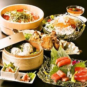 黒毛和牛×活鮮魚 マグロ婆娑羅上野店