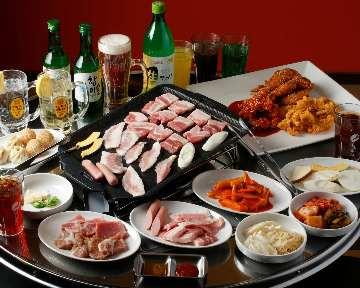 サムギョプサル&韓国料理食べ放題豚.com 池袋本店