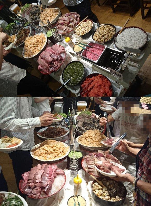 まさにお魚天国!「たいこ茶屋」なら1200円で新鮮な刺身が食べ放題