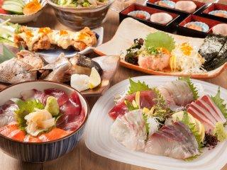 刺身、海鮮丼…全10品飲み放題付4500円!産地直送鮮魚を楽しむ新店の記事で紹介されました