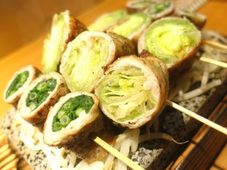 次なるブームはこれかも!栄にできた博多名物「野菜巻き串」の専門店の記事で紹介されました