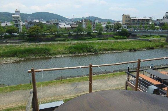 カワカフェからの鴨川の眺め