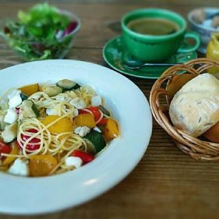 真鯛と彩り野菜のパスタのセット