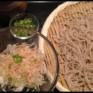 青唐辛子と四種の薬味蕎麦