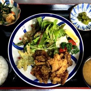 若鶏ザンギ唐揚げ定食