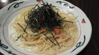 明太子のクリームスパゲティー