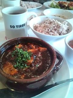 土鍋麻婆豆腐定食