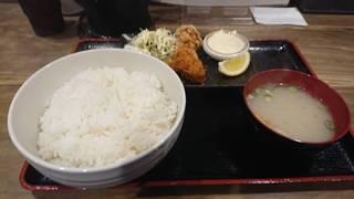 カキフライ&鶏から定食