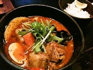スープカレー 厚切り角煮