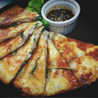韓国風ピリ辛チヂミ