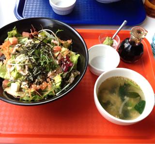 豆腐とアボガドと鶏ササミのヘルシー丼
