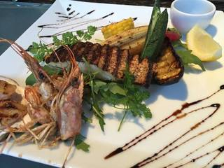 白身魚のグリル バルサミコソース