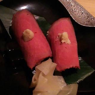 ローストビーフの握り寿司