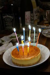 ハピバースデー♪チーズケーキ
