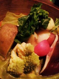 春野菜の蒸し