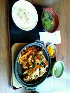 春野菜と豚の味そ炒め定食