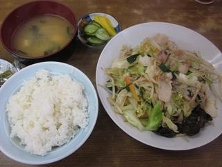 肉入り野菜炒めライス