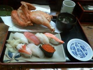 若鶏・寿司セット