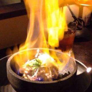バームクーヘン豚の天然岩塩火石焼き