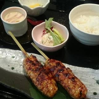 鶏つくね串定食