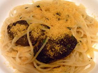 肉厚椎茸とカラスミのスパゲッティー