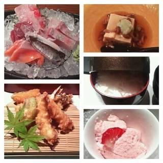 天ぷら刺身コース