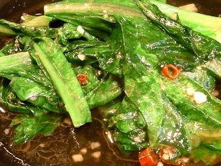 青菜の炎炒めあっさり塩味
