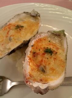 牡蠣のチーズグラタン