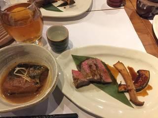 鯖の味噌煮とお肉