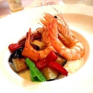 天使の海老と彩り野菜のリゾット