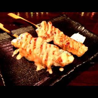 豚トロの串焼き梅肉ソース