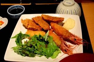 ヒレカツ&エビフライ定食