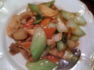 イカと野菜の炒め