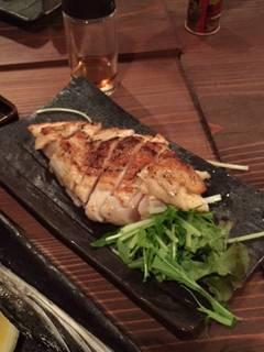 大山鶏の香味刺身ステーキ