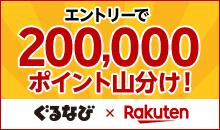 エントリーで20万ポイント山分け&はじめての楽天ID連携で30ポイントプレゼント!